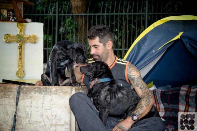 moradores de rua e seus cães 7